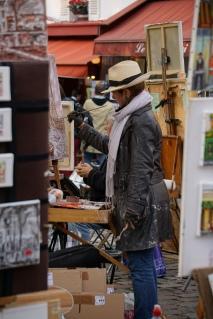 Street artist, Montmartre