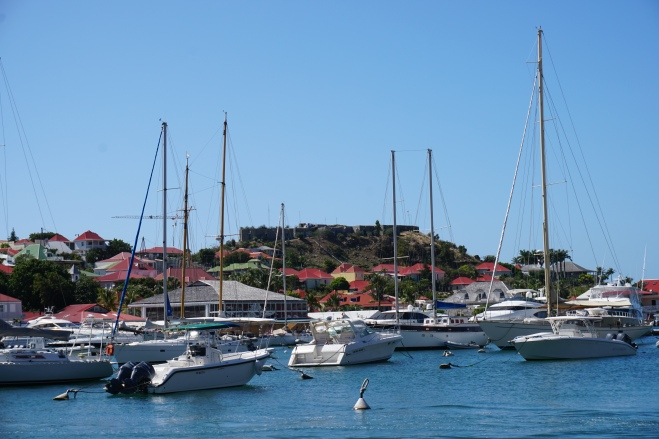 Fort Oscar overlooking Gustavia harbor