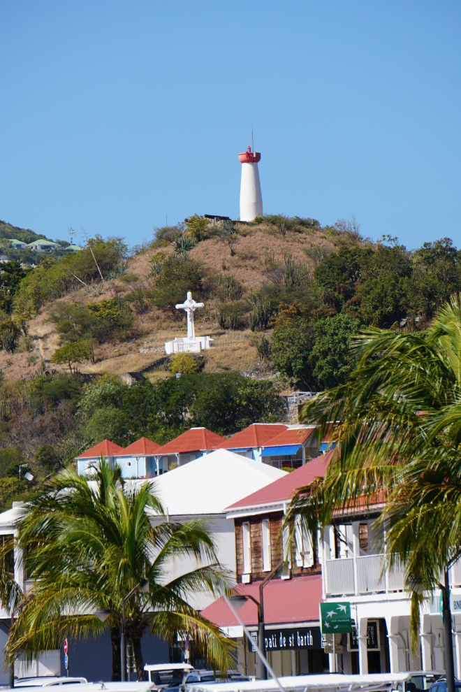 Lighthouse and crucifix