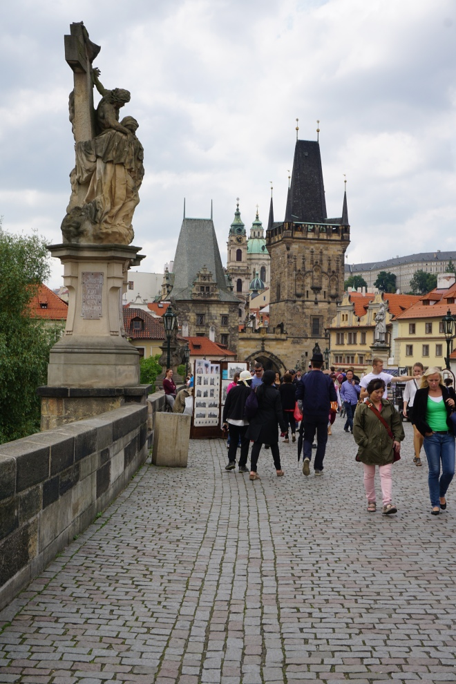 Charles Bridge looking toward Old Town, Prague