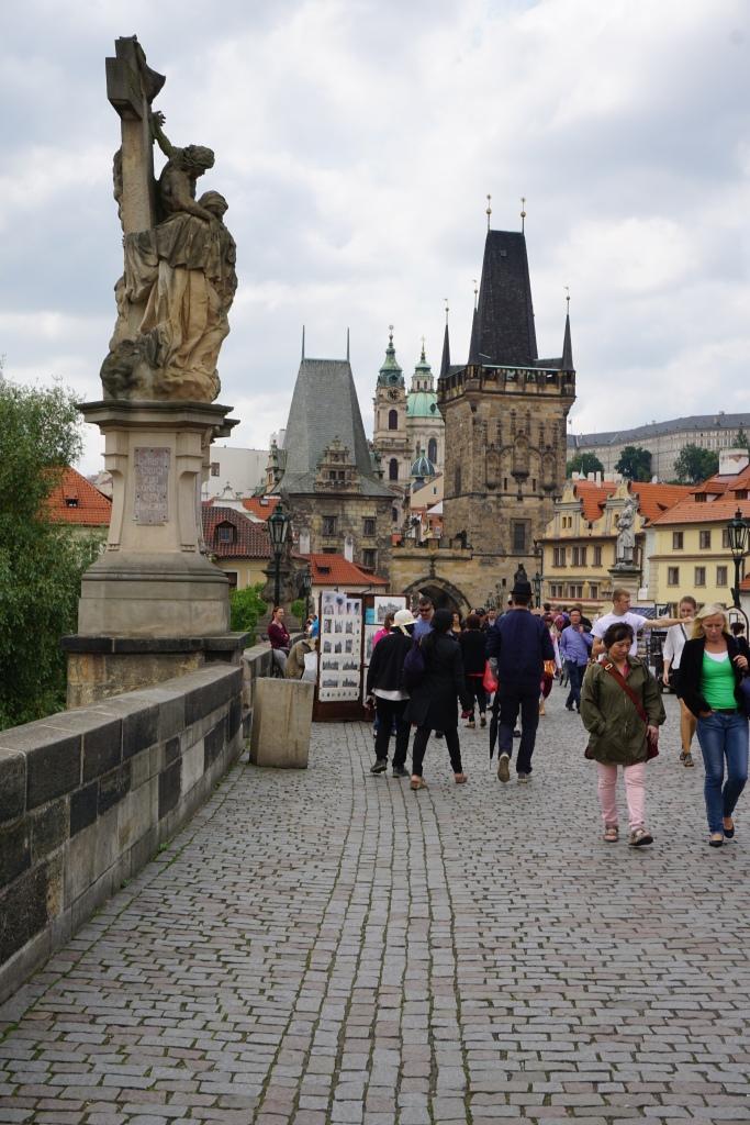 Charles Bridge looking toward Old Town, Prague