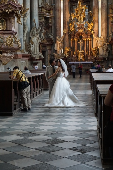 Wedding in the Church of Our Lady Victorious, Prague