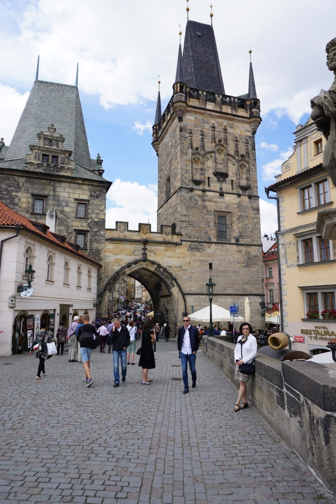 Charles Bridge, looking toward the Little Quarter, Prague
