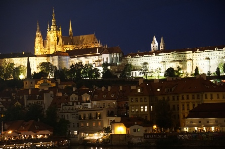 Prague Castle from the Charles Bridge