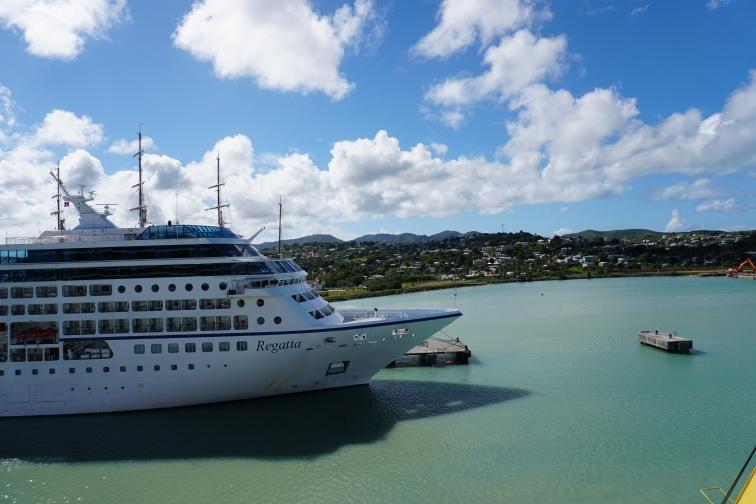 Docked in St. John's Antigua, view from veranda