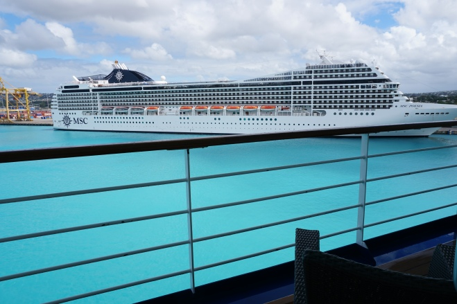 View from cabin of MSC Poesia