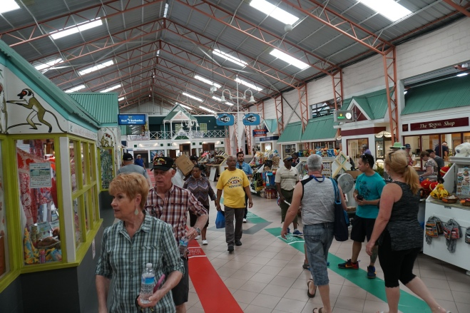 Passing through the Bridgetown passenger terminal