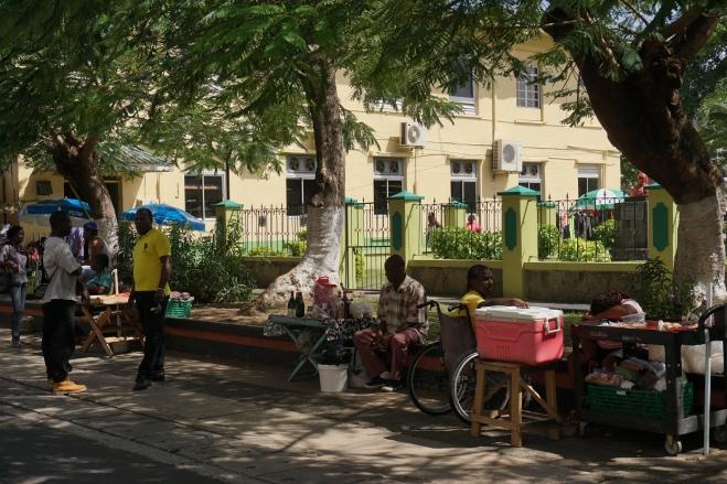 Castries street venders
