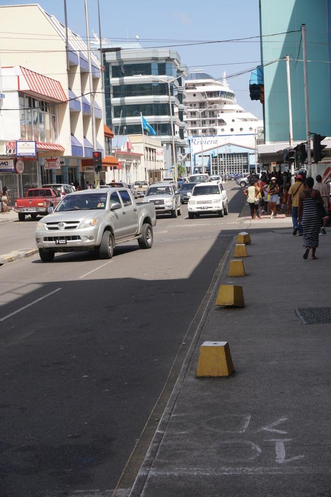 View down Bridge Street