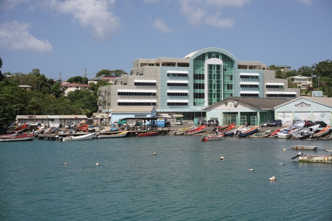 Government building on the harbor