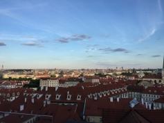 View of Prague at sundown