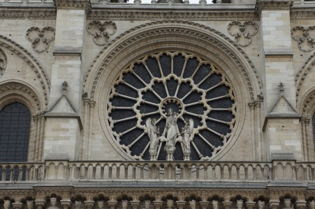 West Rose Window, Notre-Dame, Paris