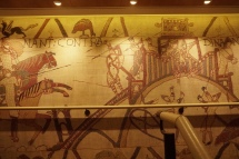 Reproduction of the Bayeux Tapestry in the stairwells
