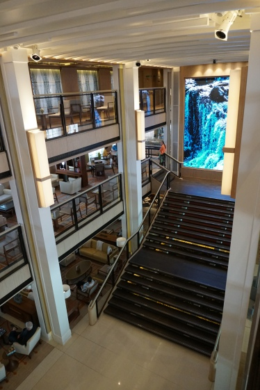 Looking at the Atrium from Deck 3