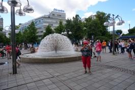 Fountain in Square near Rudhus