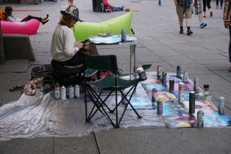 Street Artist on Karl Johans Gate