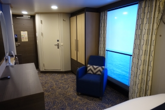 Inside cabin 10531 with virtual balcony