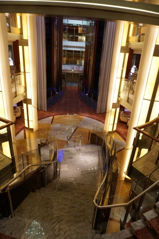 Main staircase to foyer