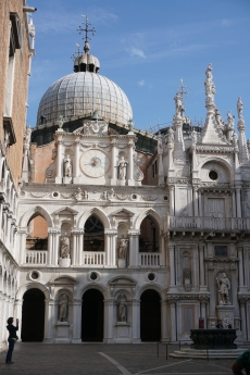 Interior courtyard with dome of St. Mark's